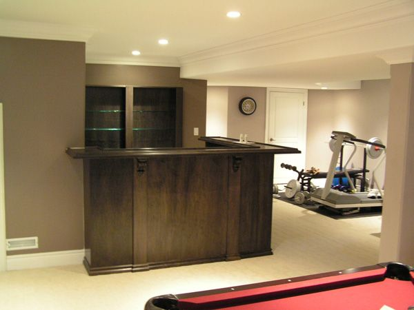 custom bar in basement