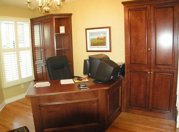 custom cabinetry in office
