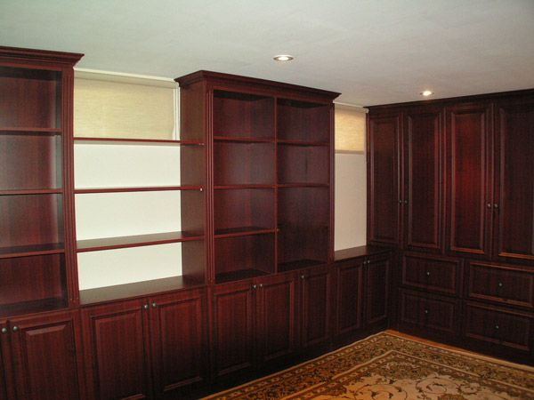 custom shelving with windows